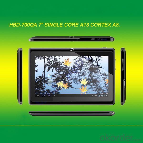 Cheap Model 512Mb/4Gb 7 Inch Allwinner A13 Q88 Tablet Pc