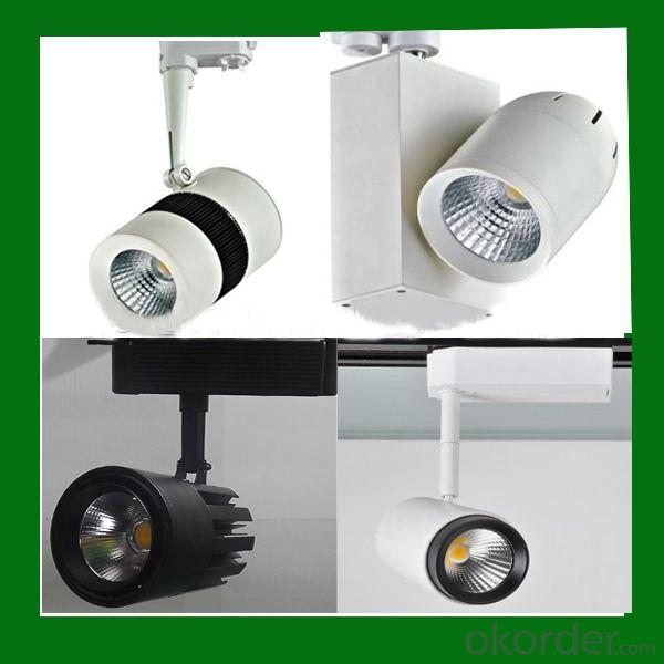 Sharp Chip 2Pin/3Pin/4Pin Cob Led Track Light,30W Dimmable Led Track Light