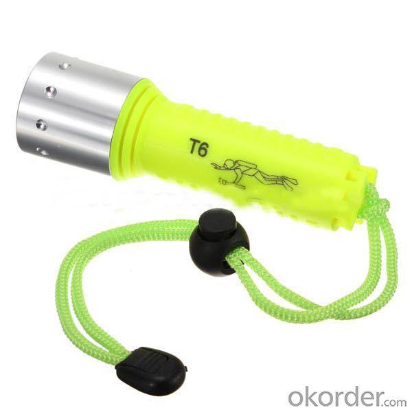 Cree XML T6 LED Waterproof diving flashlight 1600Lumens Underwater 30m LED Torch