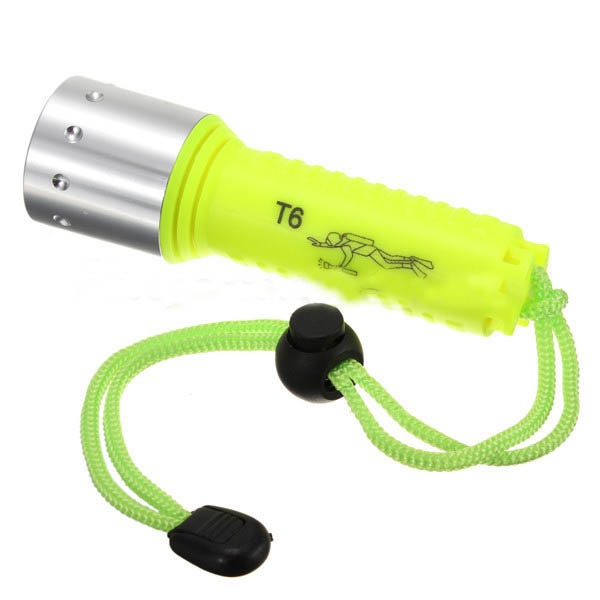 Cree XML T6 LED Waterproof diving flashlight 1600Lumens Underwater 30m LED Torch