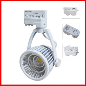 Newest Sharp Chip 2Pin/3Pin/4Pin Cob Led Track Light,30W Dimmable Led Track Light