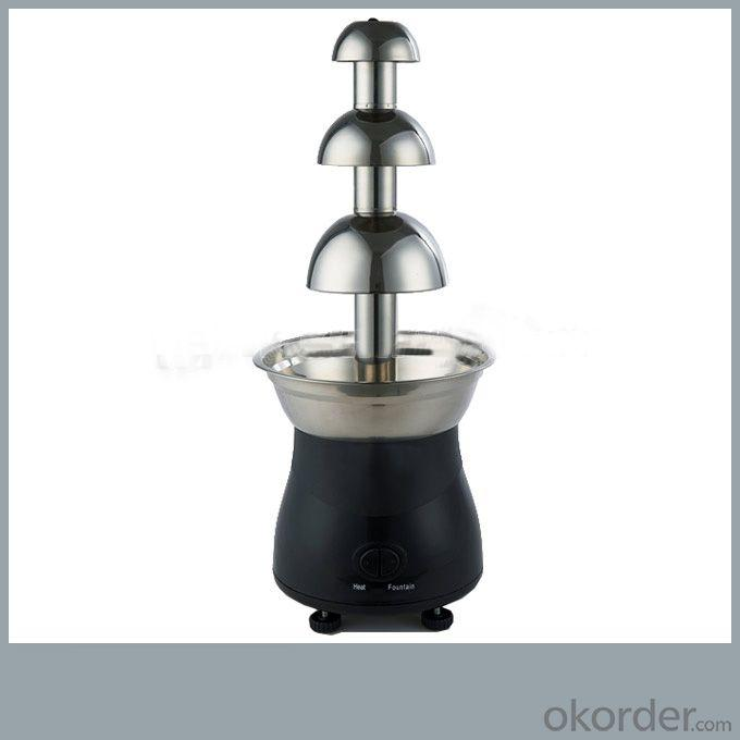 Commercial Chocolate Fountain With 3 Layers And Pp Plastic Base Chocolate Printing Coating Machines (Sunrry Sy-Cl3C)