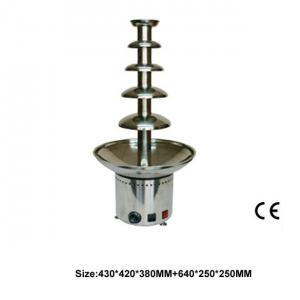 Commercial Five Layers Stainless Steel Electric Chocolate Founatin For Coffee Shop Or Buffet Restaurant
