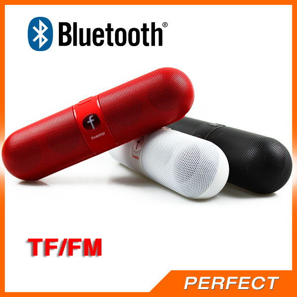 Super Bass Portable Pill Bluetooth Speaker With TF Card USB FM Radio 3 In 1 For Iphone/Samsung/Lg/Htc