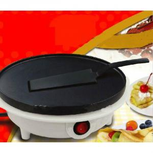 Crepe Maker with Nylon Spatula and Wooden T-stick