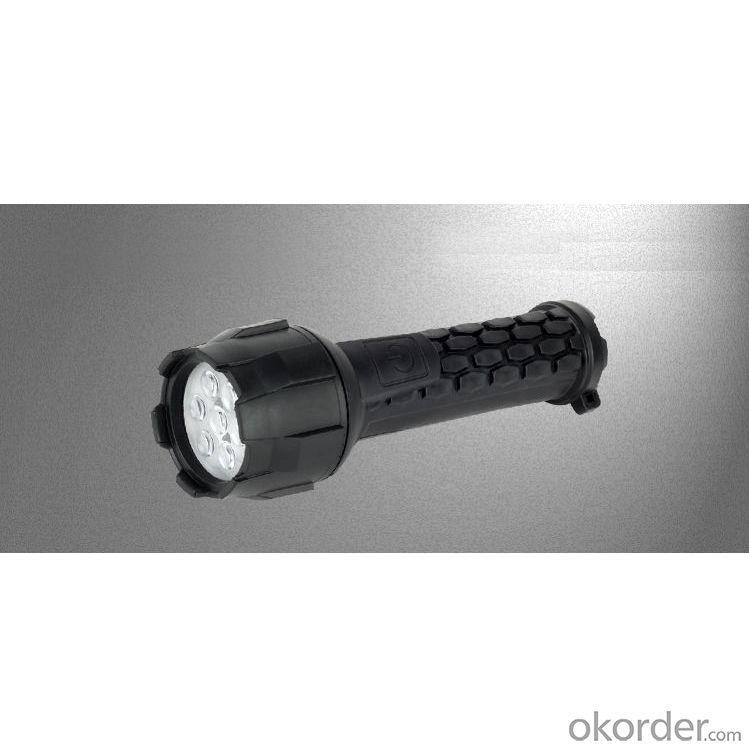 Waterproof Rubber Torch 7 LED Flashlight Waterproof Torch