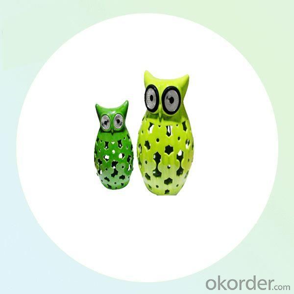 Rechargable Owl CE,ramics Jars Animal LED Solar Garden Light From China Factory
