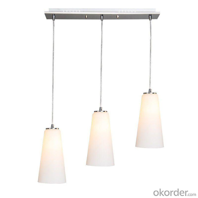 Fashion Led Pendant Light Hdl304 Polished Stainless Steel And Glass Material Dinning Room