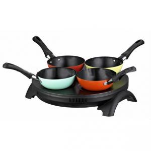 Pancake Maker with 4 Color Woks for Family Party
