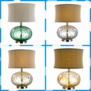 Led Emergency Light And Incandescent Decoration Glass Table Lamp