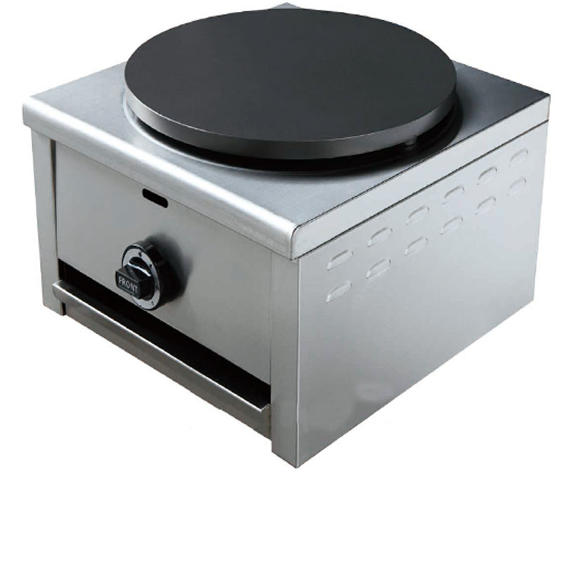 Gas Crepe Maker Stainless Steel Single Plate for Pancake