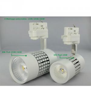 Encore 90Ra Cree Cob Led Track Light With 36W And Three Phase Adapot For Commercial Gallery
