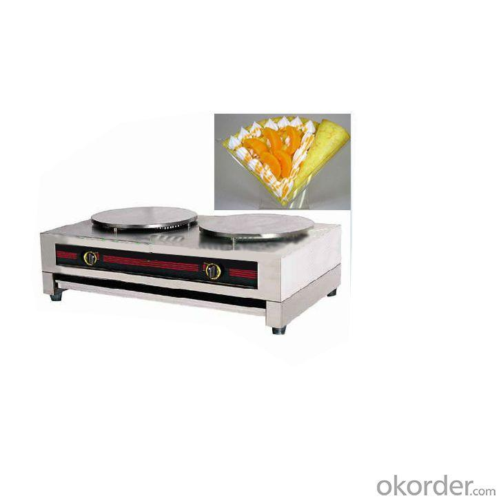 Stainless Steel Gas Crepe with Double Table