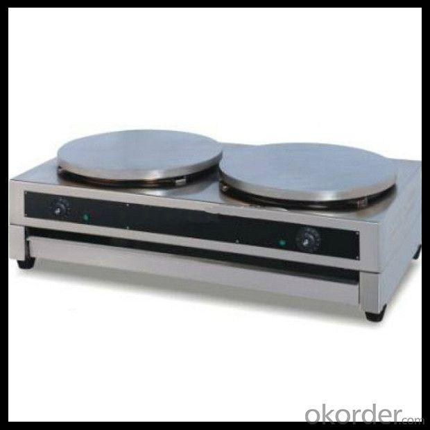 Stainless Steel Crepe Maker with Drawer Support OEM