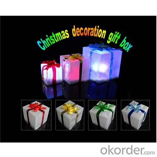 Led Light Up Christmas Flashing Gift Box Christmas Tree Decoration