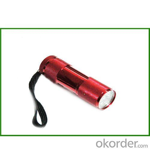 Super-Bright 9 LED Heavy Duty Compact Aluminum Flashlight Vary Color