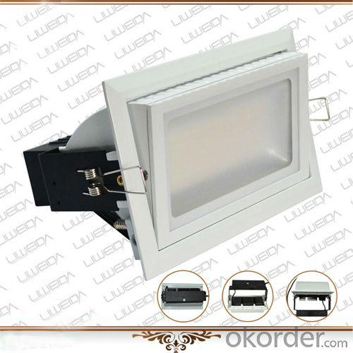 High brightness long lifespan 90lm/w rectangle 38w led downlight