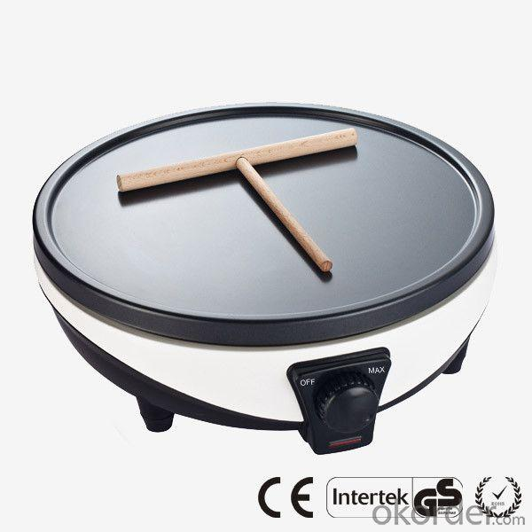 Electric Non-Stick Crepe Maker with Variable Thermostat