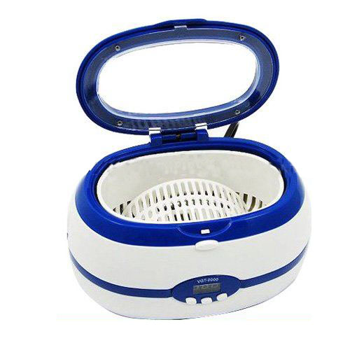 Mini Ultrasonic Cleaners For Watch Jewelry Diamond Blue Color With Stainless Steel Tank