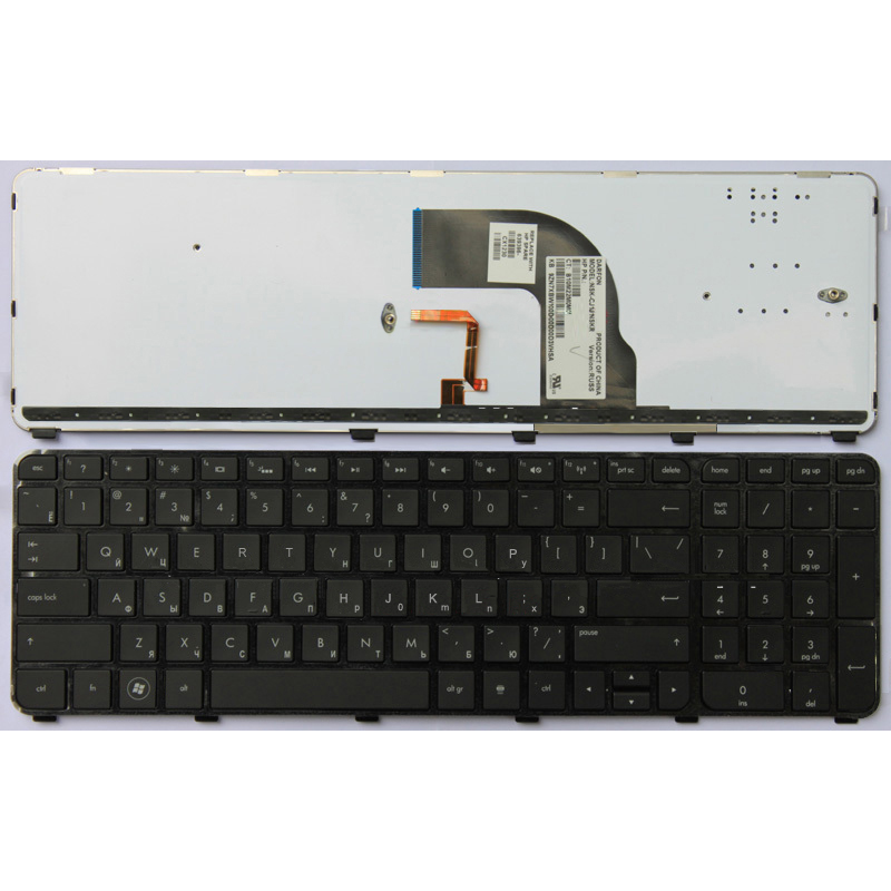 Hot Sell Brand New Ru Version,Black Notebook Keyboard,Laptop Keyboard Hp Dv7-7000 With Frame