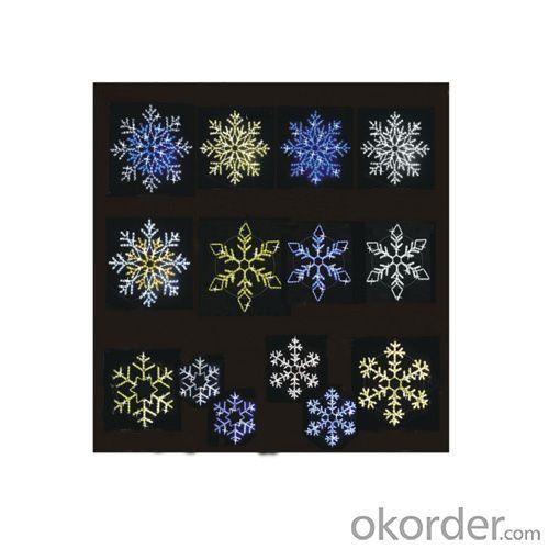 Ac100V Led Rope Light Multi Color Blue Snowflake Led Motif Light