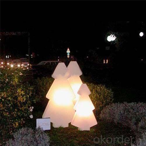 Illuminated Plastic Tree Pe Rotomolding Tree Direct Charge Led Tree