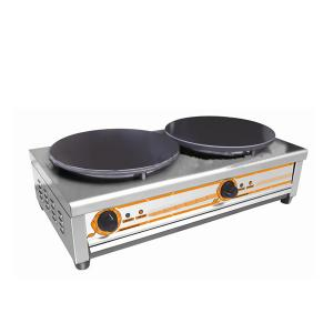 Top Electric Crepe Maker with Two Plates Table