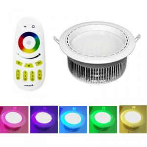 Milight Led/ Wifi LED Downlight / Dimmable LED Lights Bulb AC86-265V Color Change,4-zones RF Remote Controllable