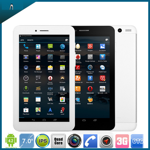 Ainol Ax3 3G Tablet Pc Mtk8382 Quad Core 1.3Ghz 7 Inch Ips Dual Sim 1G Ram 16G Rom Android 4.2 Wcdma Wifi