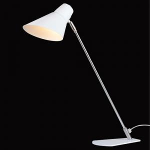White Simple Modern Reading Light Led Table Lamp In Stainless Steel Bracket