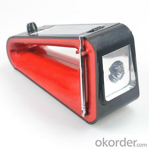 New Arrival Unique Solar Flashlight With Hand Crank, Radio, Charger