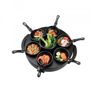 Electric Crepe Maker with Six Mini Frying Pan
