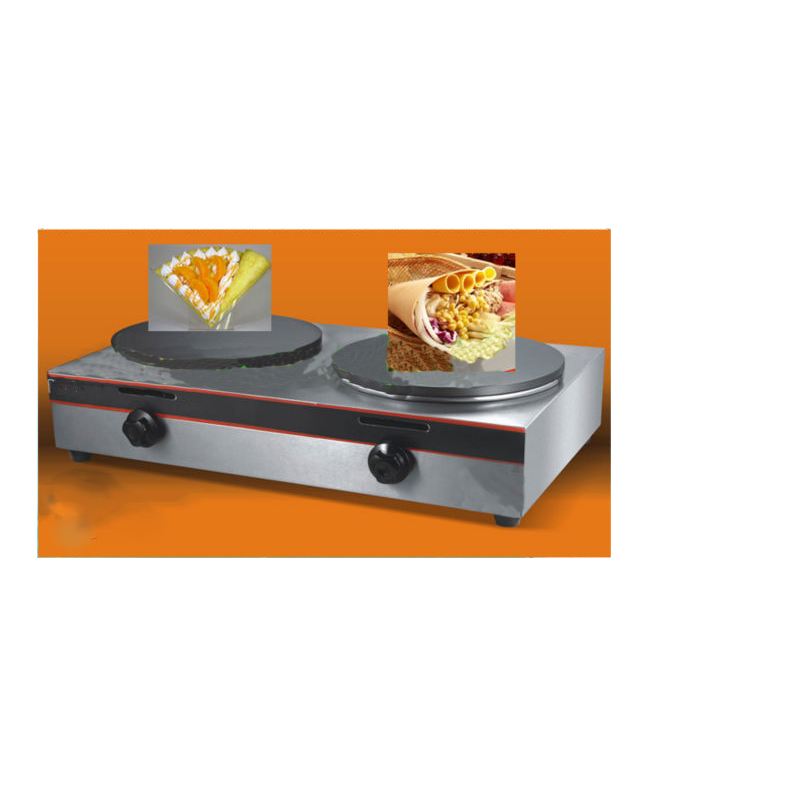 Crepe Making Machine with Stainless Steel Double Tables