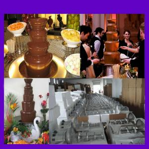 Mini/Small 4-Tier Chocolate Fountain Machine In Home