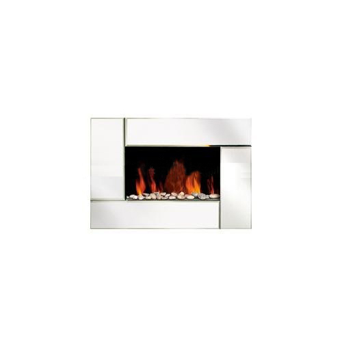 Electric Fireplace Wall Mounted with Pebble Fuel Effect