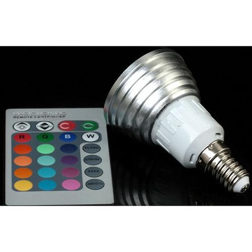 3W Dimmable Mr16 Gu10 E27 E26 E14 B22 Remote Control 16 Colors Rgb Led Spotlight Bulb Lamp Spot Light