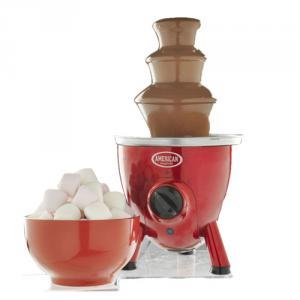 American Originals 3 Tier Metallic Red Chocolate Fountain