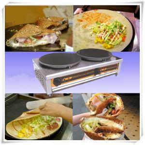 Electric Crepe Maker Stainless Steel Body for Commercial Use