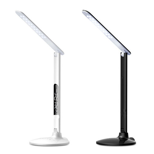 Touch Sensor Led Table Lamp With Clock And Modern Reading
