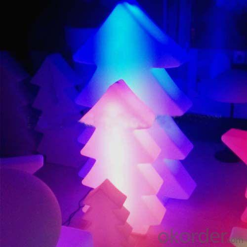 Illuminated Plastic Tree Pe Rotomolding Tree Direct Charge Led Tree