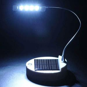 0.44W 650Mah 4 Led Solar Desk Indoor Reading Table Lamp Light