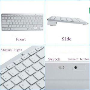 2013 Best Selling Items White Mini Bluetooth Keyboard, Mini Wireless Keyboard Compatible With Apple Mac