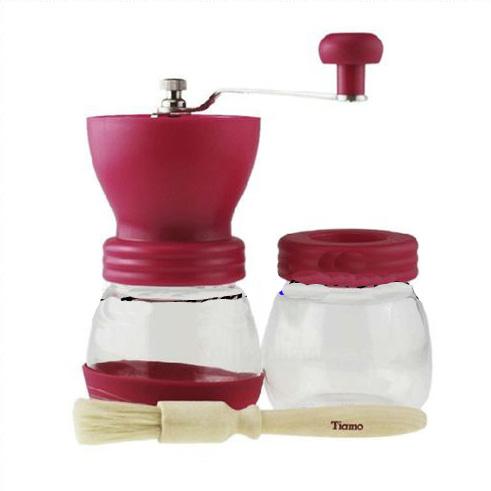 B025 Tiamo Ceramic Manual Coffee Bean Grinder Combination