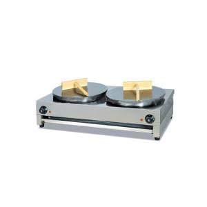 Double Heads Crepe Maker Made of Stainless Steel Electric Type