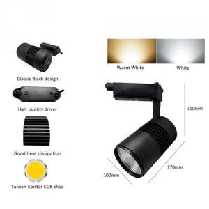 Cob Led Track Light For Shops Lighting Fixture Tracks Aluminum 20W Led Track Lighting Cob Led