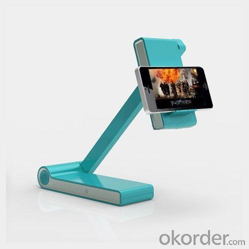 2014 New Portable Folding Rechargable Wireless Battery Led Desk Lamp With Power Bank And Phone Holder Function