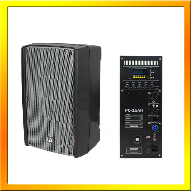 15'' Plastic Powered Speakers Cabinet With Bluetooth Pq-15Ha