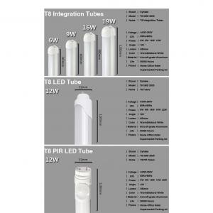 Fcc Tuv Ul Ra80 4000K 18W 20W T8 Led Light
