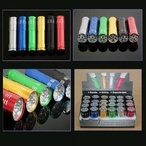 Promotional Aluminium 9 Led Mini Flashlight