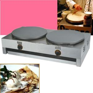 2 Plates Gas Crepe Maker Made of Stainless Steel